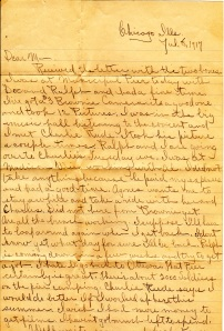 Letter from Milton Reinhart to his mother part1