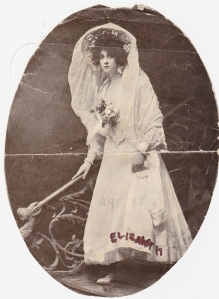 Aunt Liz in theatrical dress