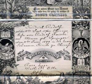 Grandpa Kaiser's Baptism Certificate