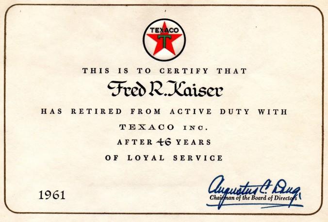 46 year service award