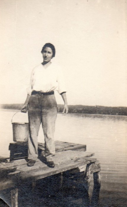 Helen at Lake Como